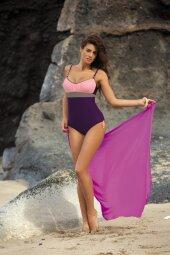 Kostium kąpielowy Whitney Mora-Bon Ton-Fango M-253 Fiolet z lekkim różem (221)