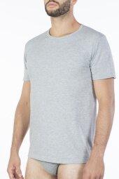 T-shirt Barcellona Grigio Melange - Szary Biały Pierre Cardin