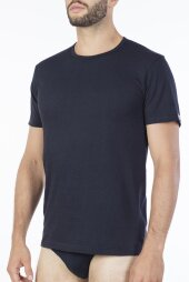 T-shirt Barcellona Marine - Granatowy Pierre Cardin